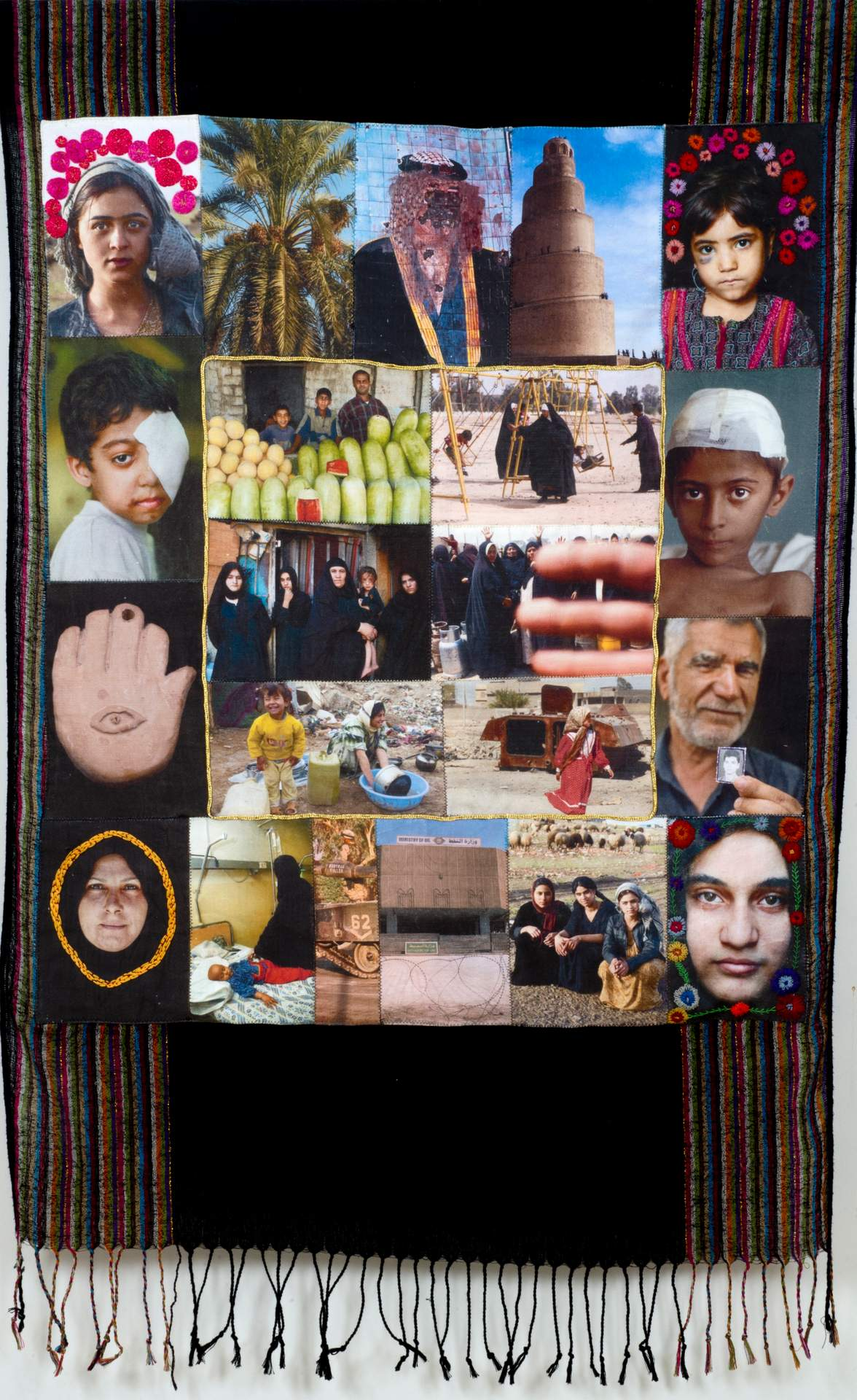 Seven Patchwork Hangings Concerning Women and War