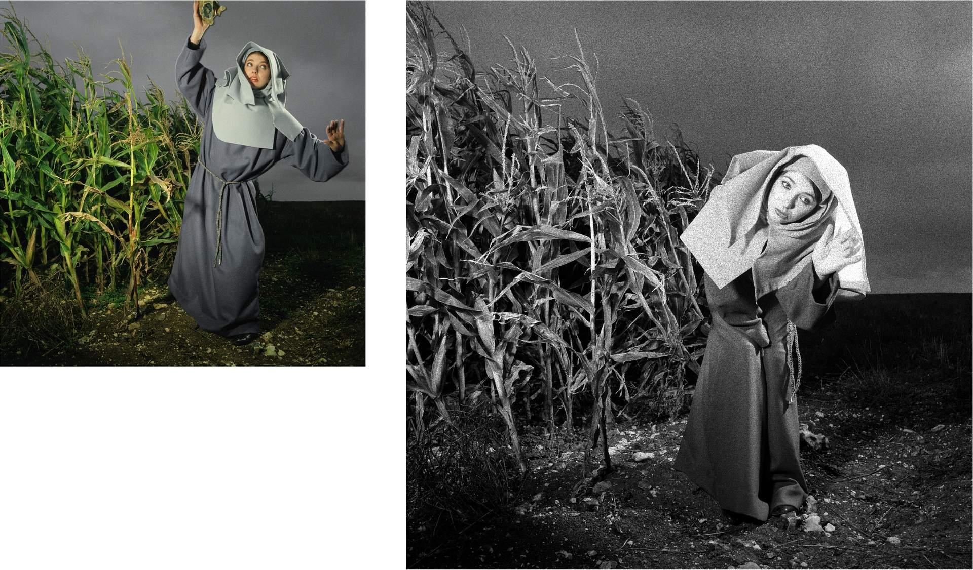 Kate Bush as a nun. Publicity shoot 1983