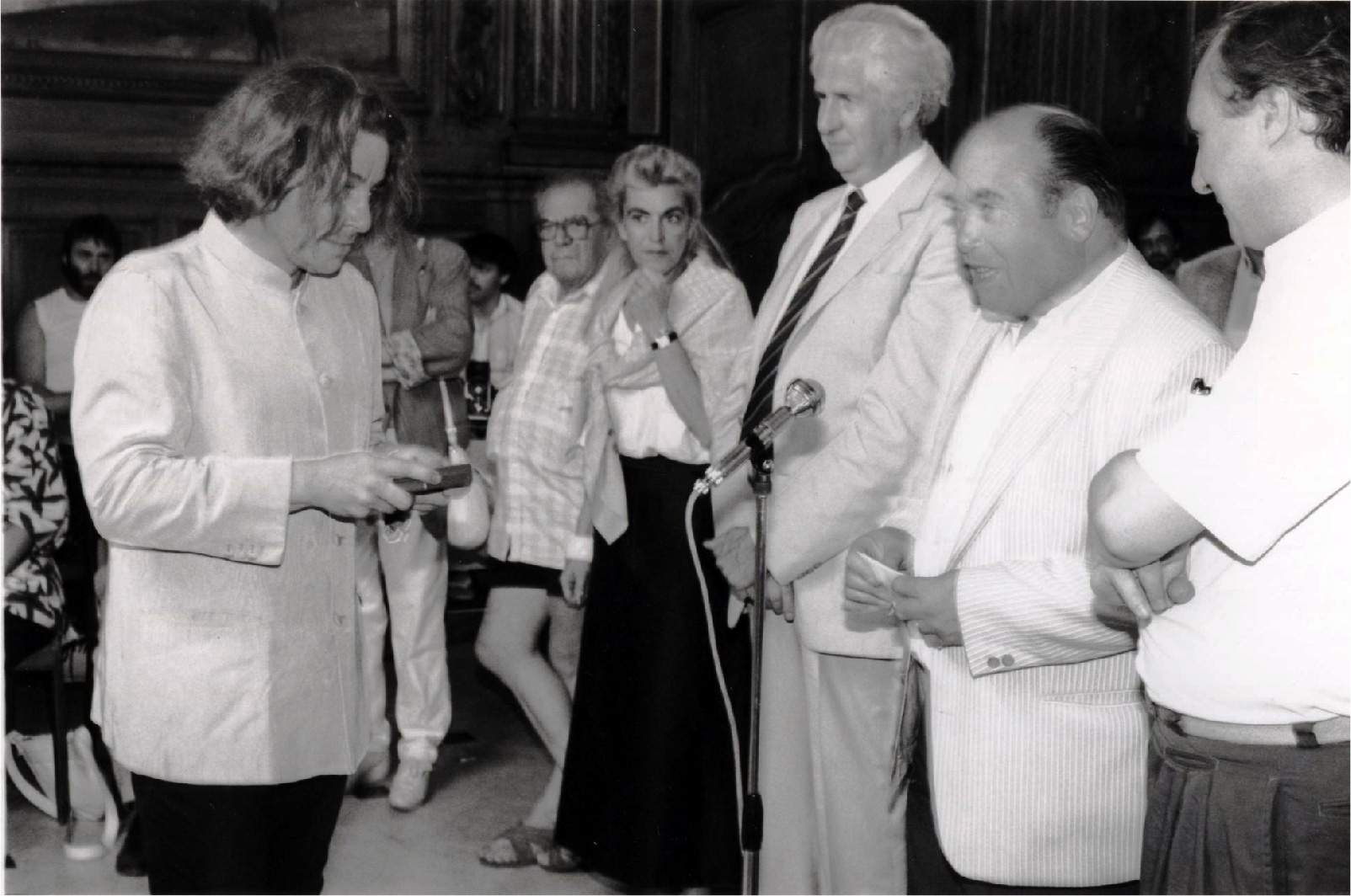 Me receiving the 'Key of the City' in the Centre Ville, 1987