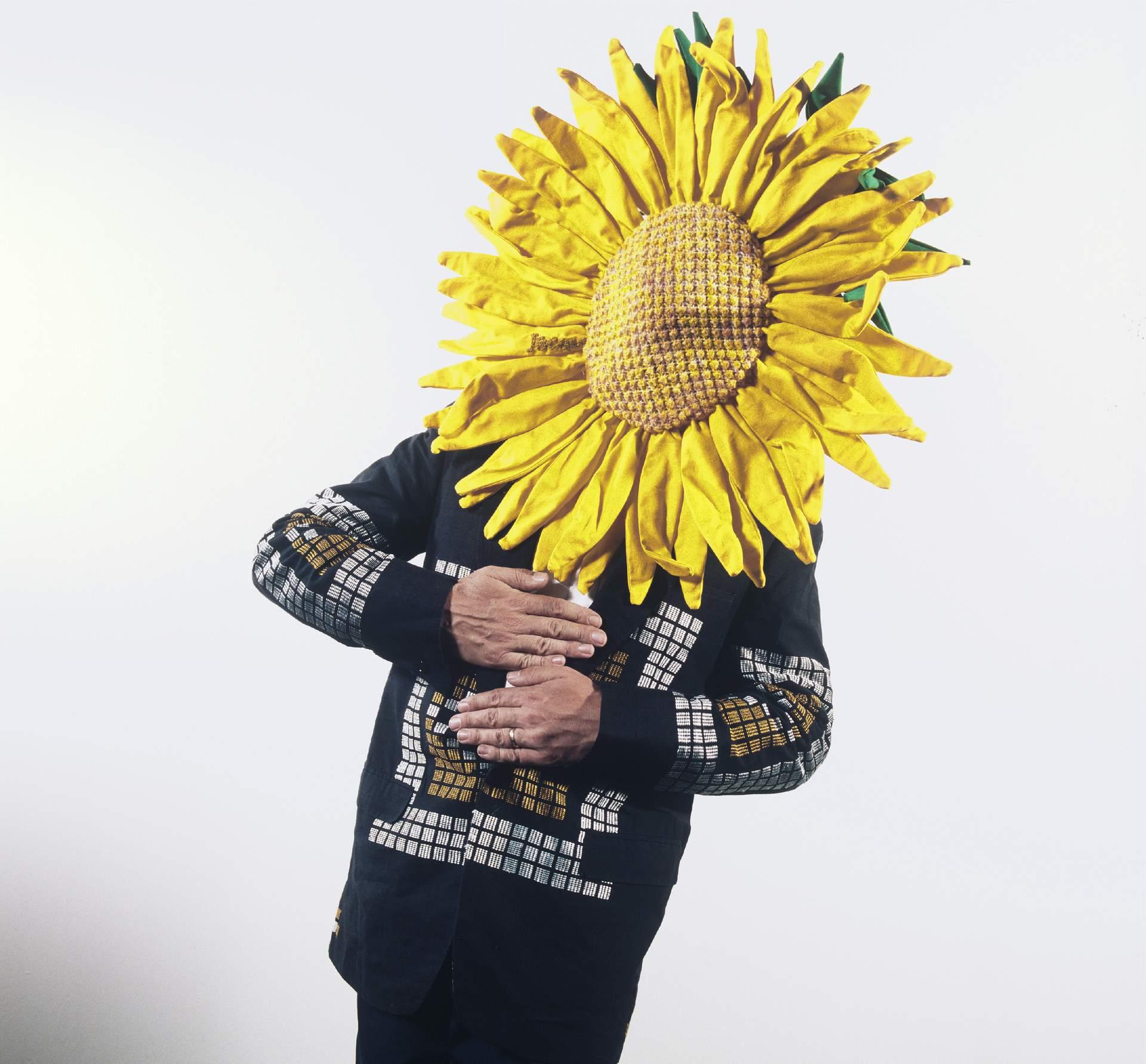 In my Sunflower headress designed by Jacqui Frye, 1987